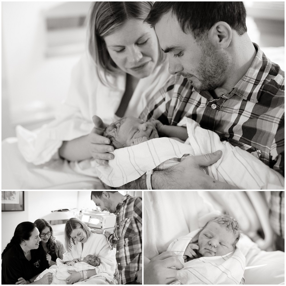 Sweet, peaceful midwife attended Hospital Birth of baby Ansel by St. Paul Minneapolis Twin Cities Photographer Megan Crown Photography 10