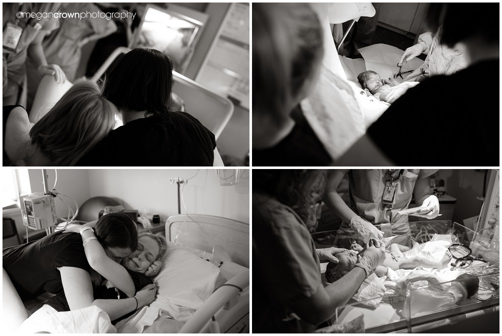 Baby Tabitha's hospital birth by Orono photographer Megan Crown