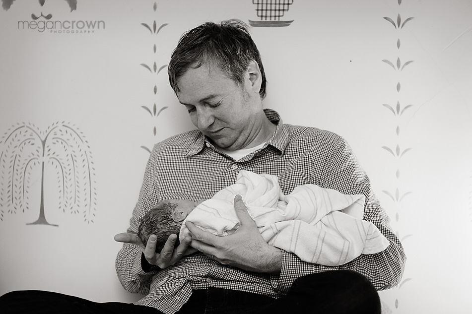 fathers and babies by Twin Cities birth Photographer Megan Crown