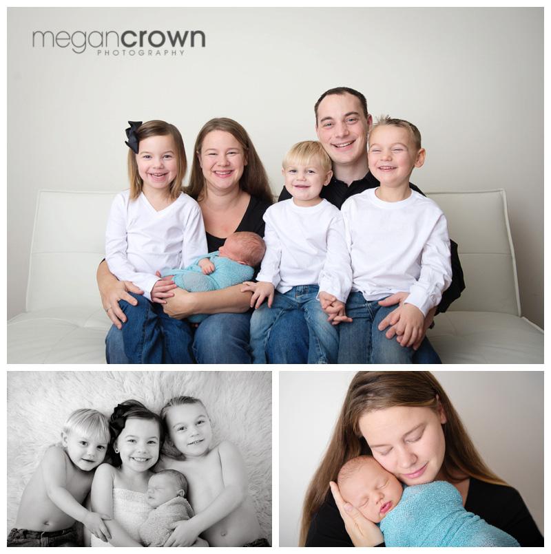 Minneapolis Studio Newborn Photography by Megan Crown